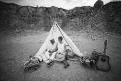 Couples enceintes dans la carrière Photographie stock libre de droits