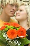 Couples engagés. Image libre de droits