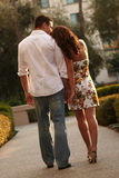 Couples engagés exprimant leur amour image libre de droits