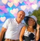 Couples entre deux âges Image libre de droits
