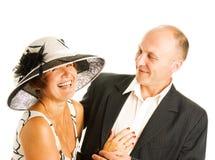 Couples entre deux âges dans l'amour Photographie stock