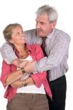 Couples entre deux âges heureux Photos libres de droits