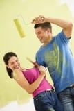Couples espiègles d'amusement. Photographie stock libre de droits