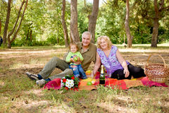Couples et chéri aînés heureux Image stock