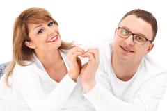Couples et coeur Photo stock