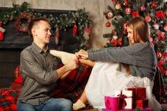 Couples et Noël Photographie stock libre de droits