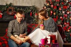 Couples et Noël Images libres de droits