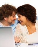 Couples et PC supérieurs Image libre de droits