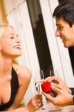 Couples et proposition spéciale Photographie stock libre de droits