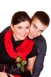 Couples et une rose Photos libres de droits