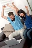 Couples Excited Image stock