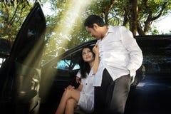 Couples extérieurs Photographie stock libre de droits