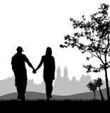 Couples à extérieur Photo libre de droits