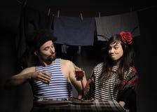 Couples fâchés. Images libres de droits