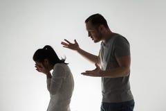 Couples fâchés ayant l'argument Photographie stock