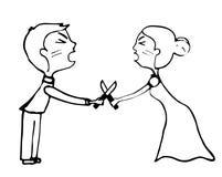 Couples fâchés criant et combattant Photographie stock libre de droits