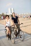Couples fâchés en vacances Photographie stock