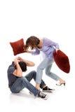 couples fâchés hurlant Images stock