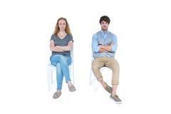 Couples fâchés ne parlant pas après argument photos stock