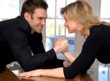 Couples fâchés Photos stock