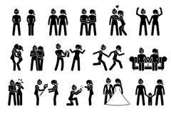 Couples femelles lesbiens heureux illustration libre de droits