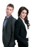 Couples fiers heureux d'affaires Photo libre de droits