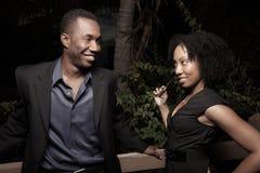 Couples flirtant Image stock