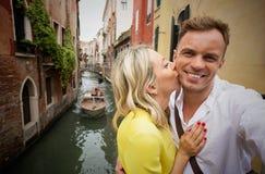 Couples gais à Venise Photographie stock
