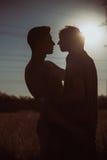 Couples gais affectueux Photos stock