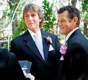 Le couple gai indique des voeux de mariage Images libres de droits