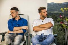 Couples gais dans la querelle photographie stock libre de droits