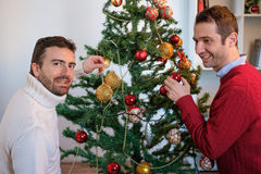 Couples gais des hommes heureux photo libre de droits