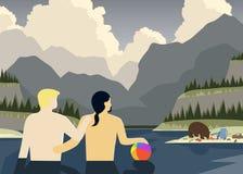 Couples gais essayant de détendre Images stock