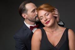Couples gais exprimant des sentiments affectueux entre eux Photographie stock libre de droits
