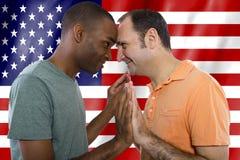Couples gais le 4ème juillet Image stock