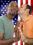 Couples gais le 4ème juillet Photographie stock libre de droits