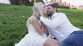 Couples gais sur la pelouse clips vidéos
