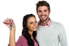 Couples gais tenant des clés Images stock