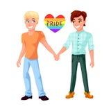 Couples gais tenant l'illustration de mains illustration libre de droits