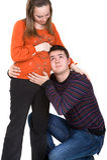 Couples gentils Photo libre de droits