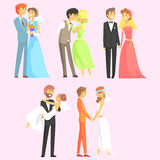 Couples Getting Married Royalty Free Stock Photo