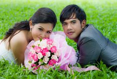 Couples of groom and bride Stock Photography