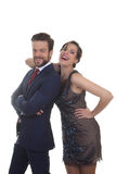 Couples habillés pour la célébration de partie image stock