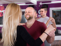 Couples having dancing class royalty free stock images