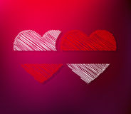 Couples of hearts Royalty Free Stock Images