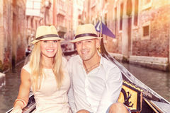 Couples heureux à Venise Photographie stock