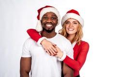 Couples heureux émotifs Photo stock
