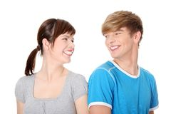 Couples heureux. Photographie stock