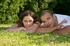 Couples heureux photo stock