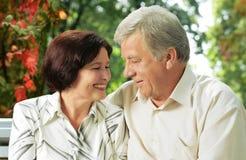 Couples heureux aînés Image libre de droits